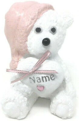 Personalised Pet Dog Sleep Tight Snow Teddy Bear Garden Grave Memorial Marker