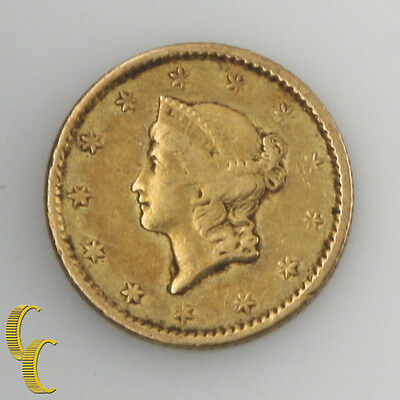 1851 G$1 Gold Dollar Indian Princess, XF Condition, Natural Color, Nice Gold!
