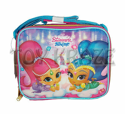 Shimmer & Shine Lunch Box! Pink Magic Carpet Insulated School Bag Tote Nwt
