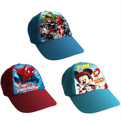 New Kids Boys Childs Mickey Mouse Blue Baseball Cap Adjustable Snapback Hat