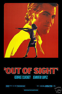 Out of Sight FRIDGE MAGNET 6x8 George Clooney Magnetic Movie Poster