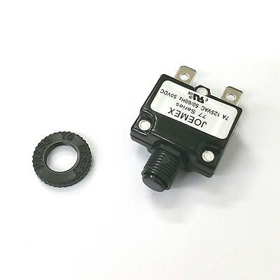 NEW 7 Amp Miniature Pushbutton Circuit Breaker ~ Joemex PE7707 7A