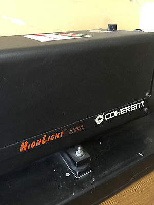 Laser 5W water cooled Coherent Argon with, psu, trx, cables,control system USED