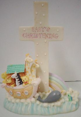"""Noah's Menagerie by Russ Berrie #16717 (""""Baby's Christening"""") Pre-owned (Girl)"""