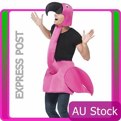 Licensed Flamingo Bird Costume Unisex Mens Ladies Womens Male Female Fancy Dress
