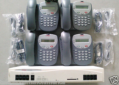 Avaya IP Office 406 V2 Business Phone System 4 lines 4 Digital Phones 700359946