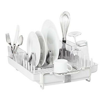 The Sabatier Premium Kitchen Dish Rack with Drying Tray Cutlery Stainless Steel