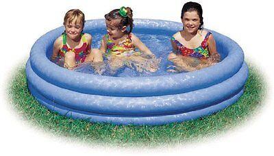 "Kiddie Pool Intex Inflatable Crystal Blue Swimming Pool For Children 45""X10 Tube"
