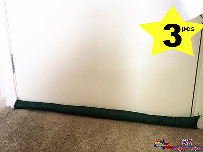 3pcs Door Snake Door Stopper 92cm Draught Excluder Cold Weather Homeware