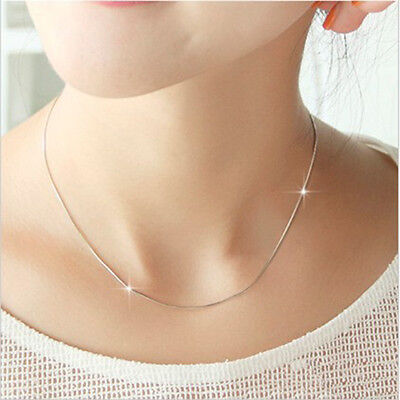 Original  925 Silver Smooth Snake Chain Necklace With Lobster Clasp For Pendant