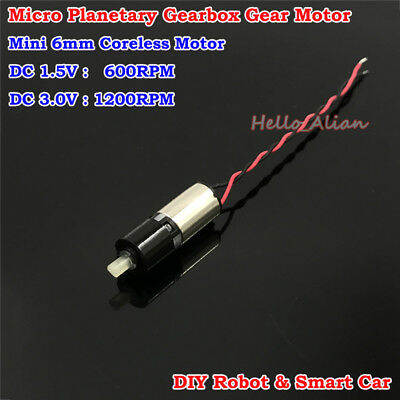 DC 3V Micro 6mm Planetary Gearbox Gear Reducer Motor 6*8MM Micro Coreless Motor