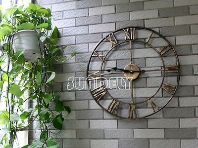 New Arrival Antique 47cm Modern Large Wall Clock Country Analog Style Metal