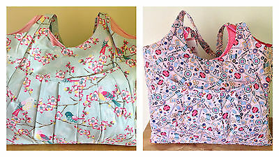 CRAFT BAG TOTE crafts sewing knitting  'TWEET' or 'CONTEMPORARY NOTIONS' Quality