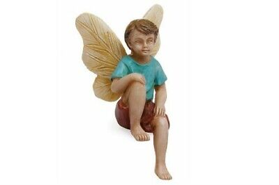 "2.75"" My Fairy Gardens Mini Figure - Sitting Boy - Miniature Figurine Decor"