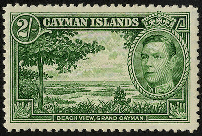 Cayman Islands - SG 124 - 1938-48 - 2s. yellow-green - Mounted Mint