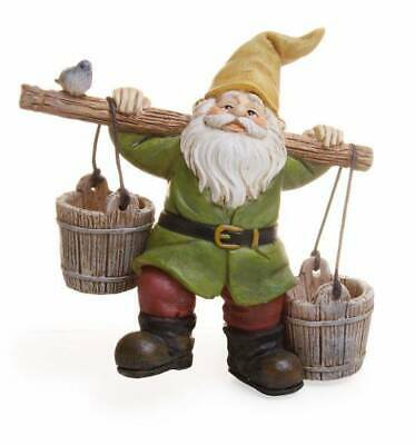 Miniature Dollhouse FAIRY GARDEN - Gnome With Buckets - Accessories