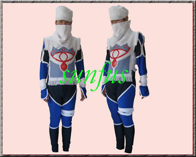 The Legend of Zelda Sheik  Cosplay Costume ANY SIZE