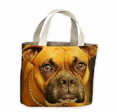 Boxer Dog Face Tote Shopping Bag For Life - Cute Pet Boxers