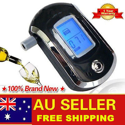 LCD Police Digital Breath Alcohol Analyzer Tester Breathalyzer Audiable AU