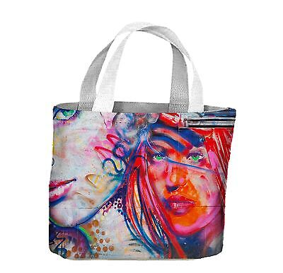 Woman with Orange Face Graffiti Tote Shopping Bag For Life