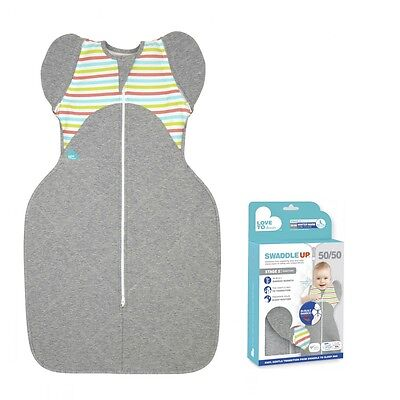 Love to Dream SwaddleUp 50/50 Warm 2.5tog Multi Stripe Baby Swaddle Sleeping Bag