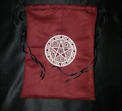 Oracle Bag Rune Tarot Embroidered Pentacle Swarovski Crystals Renaissance