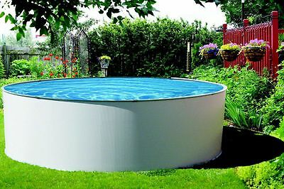 Simplicity 12 ft Round Above Ground Pool with Liner and Skimmer Salt Friendly