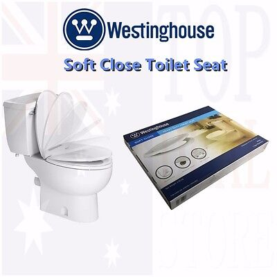 Westinghouse Dual LED Light Soft Close Toilet Seat Sound Activated Easy Install