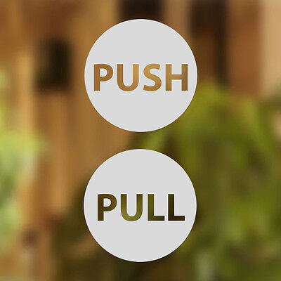 Pull Push Door 12cm Stickers Shop Window Salon Cafe Restaurant Office Vinyl Sign