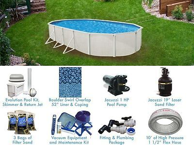 Esprit 15' x 30' ft Oval Standard Above Ground Pool Complete Package