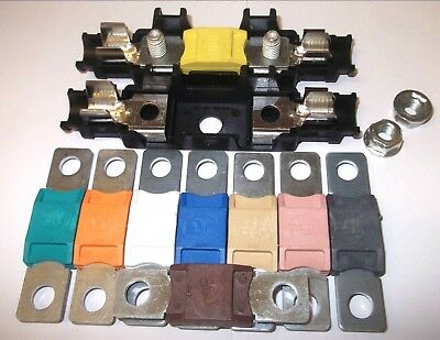 500 AMP BROWN MEGA FUSE AND MEGA FUSE HOLDER QUALITY CAR MARINE 500A A AMPS
