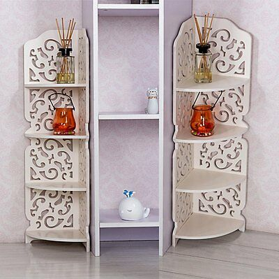 eckregal eckstand b cherregal regal aufbewahrung organizer 4 ablagen wei supper eur 18 61. Black Bedroom Furniture Sets. Home Design Ideas