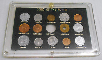 14-Piece Mixed Uncirculated World Coin Collection In Deluxe Holder