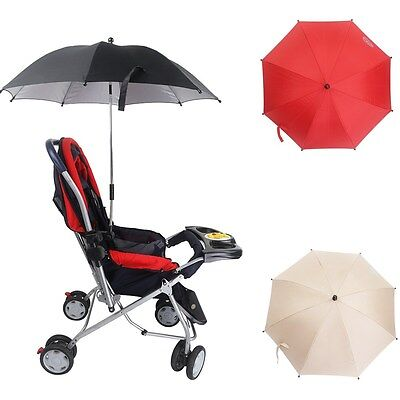 Adjustable Baby Stroller Pushchair Umbrella Buggy Pram Parasol Anti-Uv Sun Shade