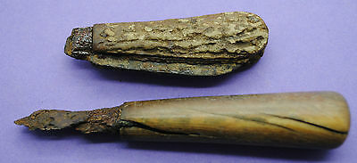 Two 17th century kn1fe handles found on the Thames foreshore