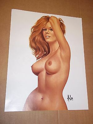 """PIN-UP"" ALAIN ASLAN / POSTER 41 x 32 cm"