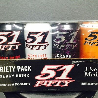 51 FIFTY Energy Drink - A Little Bit of Everything Variety Pack . - 12 cans/case