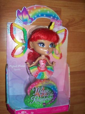2006 Mattel Barbie Fairytopia Magic of Rainbow Pigtail Pixie Doll Sparkle NEW