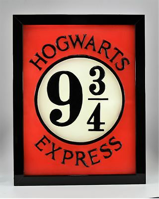 Harry Potter Hogwarts Movie Crest 3D wax painting led light box