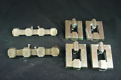 Vtg Set of KBC Keeler Brass Company Heirloom-style Deco Brass Drawer Pulls