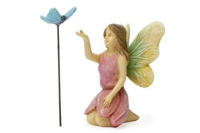 Miniature Dollhouse FAIRY GARDEN - Fairy with Butterfly - Accessories