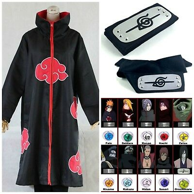 NEW! Naruto Akatsuki Uchiha Itachi Robe Cloak Coat Anime Cosplay Costume Uniform