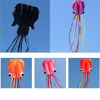 NEW 4M Octopus Kite Long Soft Kite with 30m Handle Line Kid Children's toys L9B6