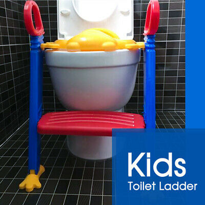 NonSlip Trainer Kids Toilet Ladder Baby Toddler Training Toilet Step Potty Seat