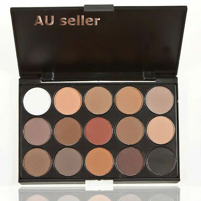 Nice Pro 15 Colors Warm Nude Matte Shimmer Eyeshadow Palette Makeup Cosmetic LY
