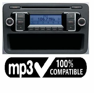 vw rcd 210 original autoradio cd mp3 vw t5 golf passat. Black Bedroom Furniture Sets. Home Design Ideas
