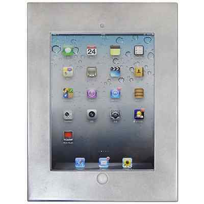iPad 2/3/4/Air/Air2/Pro 9.7 Anti-theft Secure Silver Enclosure Case Wall Mount