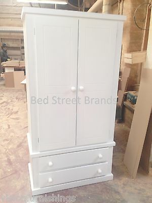 New Hand Made 2 Drawer Bingley Wardrobe Ready Assembled No Flat Pack