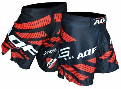 AQF MMA Fight Shorts Grappling Kick Boxing UFC Cage Fighting Shorts Men Black