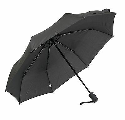 Elite Black Mini Triple Fold Compact Umbrella - Auto Open & Close